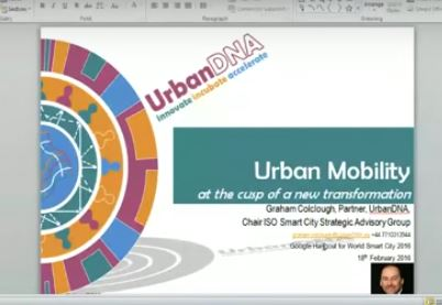 Graham Colclough on pain points for urban mobility - discussion